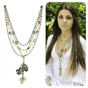 Kinley Multi Strand Shark Tooth Necklace